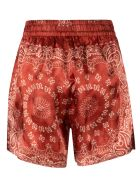 Golden Goose Paisley Print Shorts - Light Red