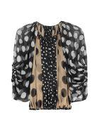 Dolce & Gabbana Polka-dot Silk Blouse - Multicolor