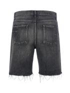 Saint Laurent Denim Short Straight - Medium Dirty Black