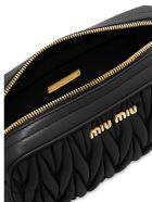 Miu Miu Matelasse` Bandoleer Bag - Black