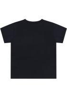 Dolce & Gabbana Black T-shirt For Babykids With Logos - Black