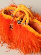 Sikuly Mini Bag Coffa Bag Piume Orange P. Sikuly With Feathers - Multicolor