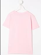 Balmain Kid Pink T-shirt With White Logo