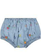 Stella McCartney Kids Light Blue Dress For Baby Girl With Flowers - Light Blue