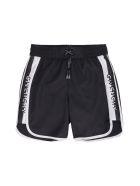 Givenchy Logo Print Swim Shorts - black