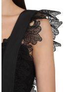 self-portrait Guipure Lace Playsuit - BLACK