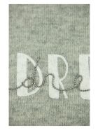Brunello Cucinelli Wool, Cashmere And Silk Sweater With Written - GREY