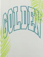 Golden Goose T-shirt - White/green/yellow