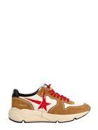 Golden Goose Running Sole Sneakers - CREAMY WHITE COGNAC RED BLACK