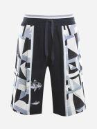 Dolce & Gabbana Cotton Shorts With Majolica Print - Cotton