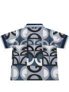 Dolce & Gabbana Light Blue Polo Shirt For Babyboy With Logos - Light Blue