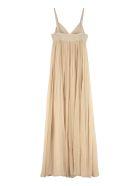 Alberta Ferretti Long Chiffon Dress - Beige