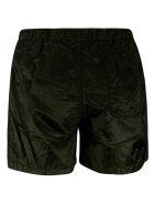 Stone Island Logo Patch Drawstring Boxer Shorts - Dark Green