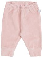 Stella McCartney Kids Pink Ribbed Knit Velvet Pants - Pink
