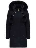 Moose Knuckles Stirling Parka Nylon And Cotton Long Down Jacket - Black