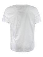 Balmain Logo Print T-shirt - White/Yellow