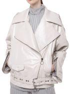 DROMe Perfecto Biker Jacket - Popsicle White