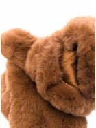 Apparis Brown Coco Gloves In Ecological Fur - Beige
