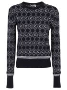 Chloé All-over Logo Ribbed Sweater - Navy