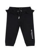 Givenchy Black Sweatpant For Baby Girl With Logo - Black