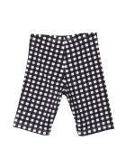 Monnalisa Gingham Checkered Shorts - Bianco/nero
