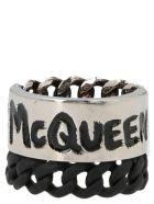 Alexander McQueen 'mcqueen Graffiti Chain' Ring - Multicolor