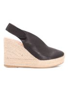 Ras 'butter' Leather Wedges - Negro