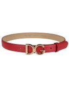 Dolce & Gabbana Logo Buckle Belt - Red