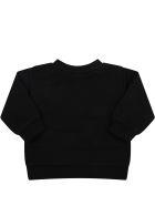 Balmain Black Sweatshirt For Baby Girl With Logo - Black