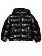 Moncler Black Feather Down Jacket - Nero