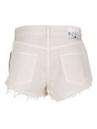 Alanui Saguaro Wash Denim Shorts - Sand Beige