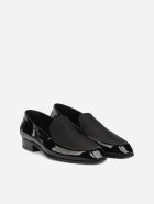 Saint Laurent Henry Loafers In Leather With Grosgrain Insert - Black