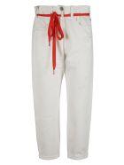 Denimist Harper Shoelace Jeans - White/Red