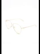 Alexander McQueen AM0263S Sunglasses - Gold Gold Brown