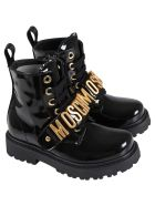 Moschino Black Boots For Kids - Black
