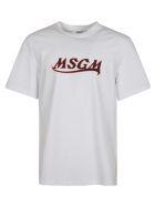 MSGM Chest Logo Print T-shirt - White