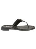 Prada Classic Flat Sandals - Black