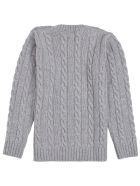 Philosophy di Lorenzo Serafini Kids Grey Wool Blend Sweater With Logo - Grey