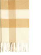 Burberry Half Mega Check Cashmere Scarf - White/Alabaster