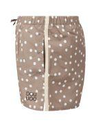 Douuod Beige Swimshort For Kids With Polka--dots - Beige