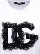 Dolce & Gabbana Cotton Crop T-shirt With Logo - White