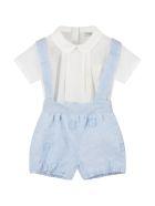 Fendi Multicolor Romper For Babyboy - Light Blue