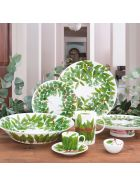 Taitù Cake Stand - Fil Rouge Foglie Collection - Green