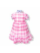 MC2 Saint Barth Pink And White Checked   Girl S Dress