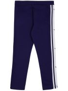 Emporio Armani Blue Cotton Jogger With Contrast Side Bands - Blu