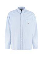 Hugo Boss Boss X Russell Athletic - Cotton Button-down Shirt - Blue