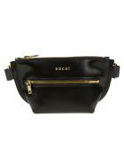 Sacai Top Zipped Logo Belt Bag - Black/Gold