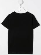 Balmain Unisex Kid Black T-shirt With Embossed Logo