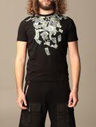 Sprayground T-shirt Sprayground T-shirt With Shark And Money Print - Black