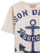 Gucci Cotton T-shirt With Print And Logo - White